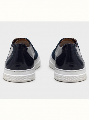 Young British Designers: ISA Classic Sneaker in Navy by Folk
