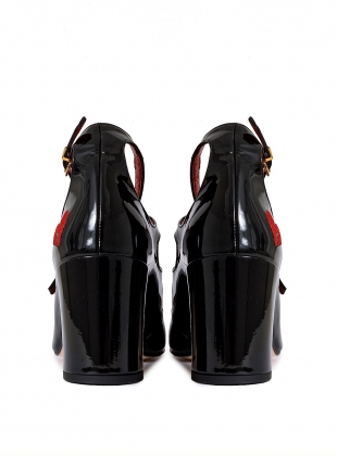 Young British Designers: MARY JANE Heartbreaker Pump in Black by HAVVA