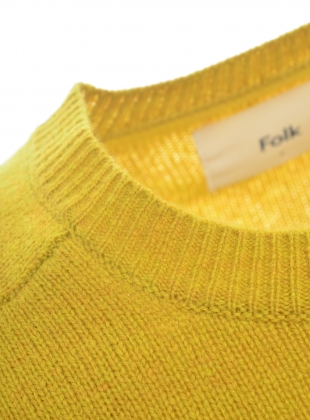 Young British Designers: PATRICE Crew Knit in Sulphur by Folk