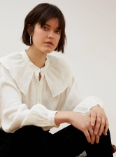 LOST INNOCENCE Blouse in White Linen