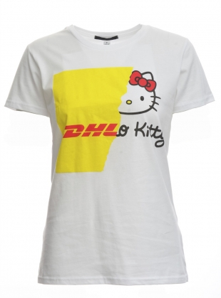 COLLAB DHL Kitty tee by Simeon Farrar