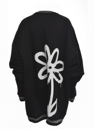 Young British Designers: SUPERSIZED SWEAT. Black Daisy  by Simeon Farrar