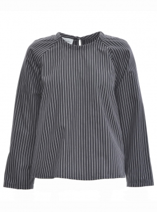 BASE SHIRT in Pinstripe by Kate Sheridan