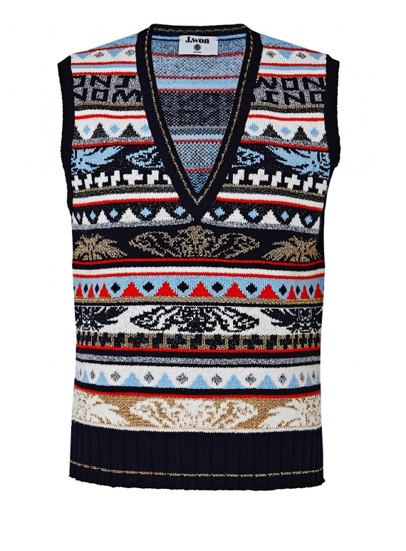 Young British Designers: ANGEL FAIR ISLE Knit Vest - Last one by J.Won