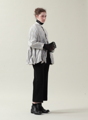 Young British Designers: Silver White Ramie Shirt - Sold out by Renli Su