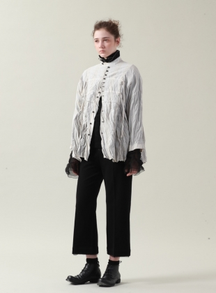 Silver White Ramie Shirt - Sold out by Renli Su