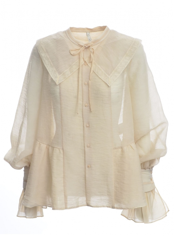 Young British Designers: Victoriana Natural Shirt - Last one by Renli Su