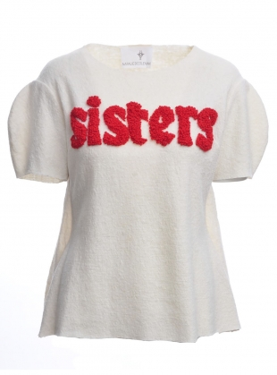 Sisters Boiled Wool Embroidered Top by Natalie B Coleman