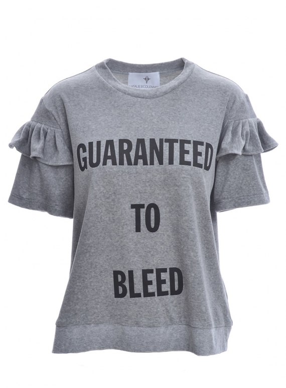 Young British Designers: Guaranteed to Bleed Velvet Sweatshirt by Natalie B Coleman