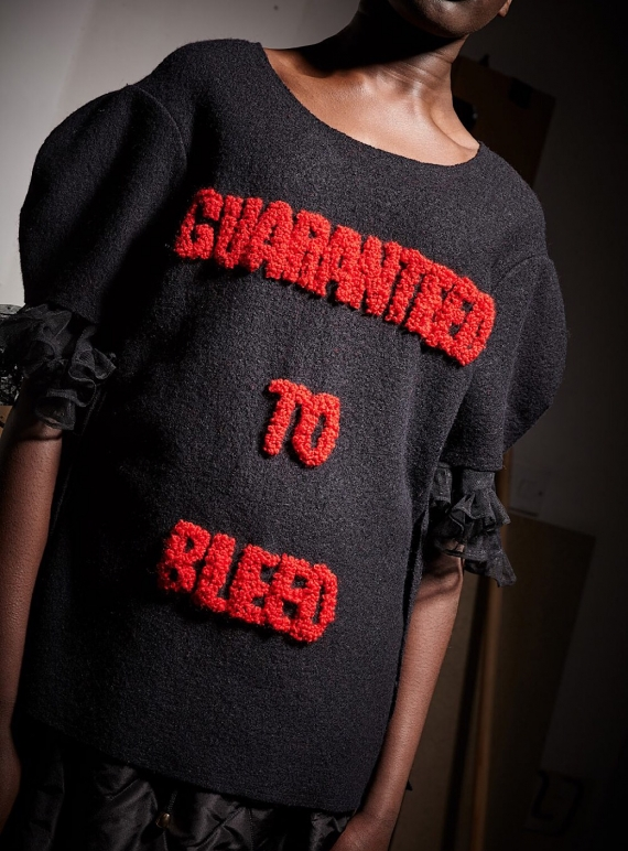 Young British Designers: Guaranteed to Bleed Boiled Wool Top by Natalie B Coleman