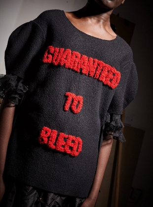 Guaranteed to Bleed Boiled Wool Top by Natalie B Coleman