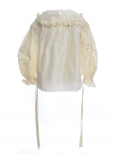 Pleated Victorian Taffeta Top