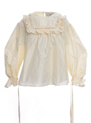 Pleated Victorian Taffeta Top by Natalie B Coleman