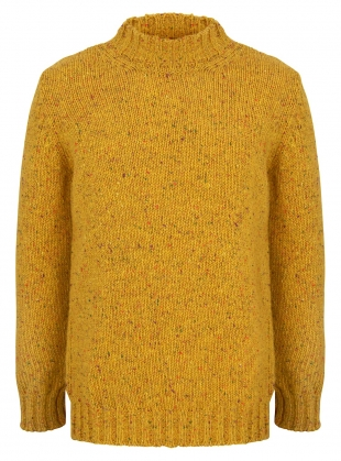 Inishowen Tweed Sweater in Saffron by McConnell