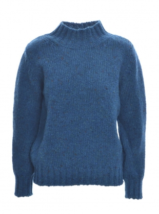 Inishowen Tweed Sweater in Opal by McConnell
