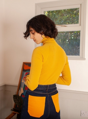 Young British Designers: AXEL Bodysuit in Chartreuse by LF Markey