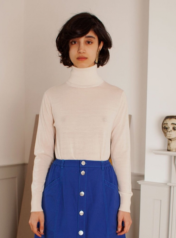 Young British Designers: JOSHUA Polo in Ecru Wool by LF Markey