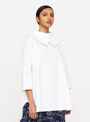 WHITE SATEEN COTTON SHIRT  by Teija Eilola