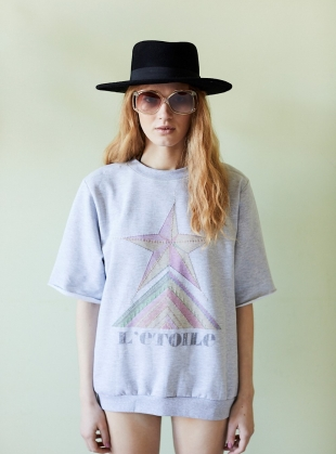 Hand Embroidered Etoile Sweatshirt by Tallulah & Hope