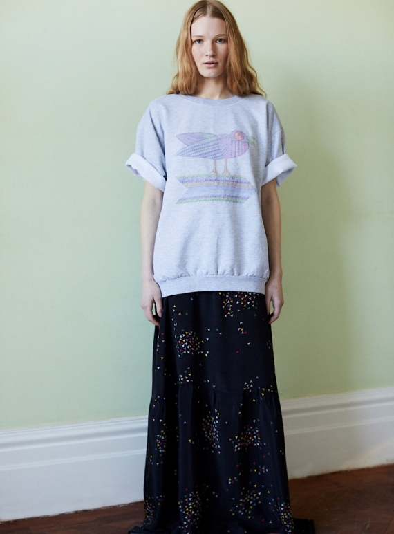 Young British Designers: Hand Embroidered Bird Sweatshirt - Sold out by Tallulah & Hope