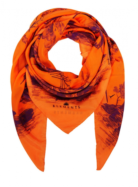 Young British Designers: GIANT SCARF in Doomed Voyage Print - Last one by Klements