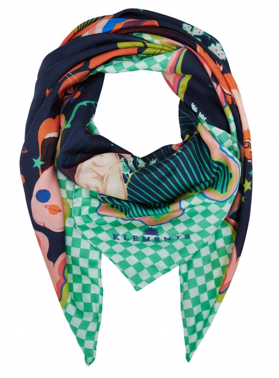 Young British Designers: GIANT SCARF in Lucid Print - last one by Klements