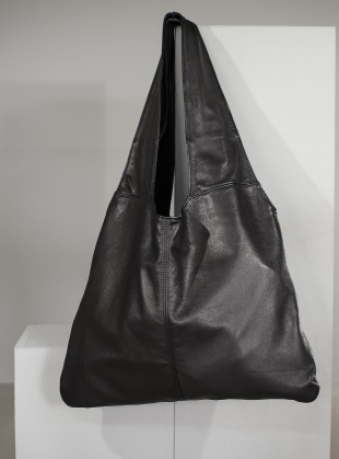 Young British Designers: AGNES Slouch Bag in Black by Taylor Yates