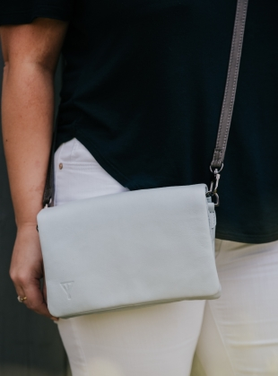 Young British Designers: FRANCES Shoulder Bag in Ice by Taylor Yates