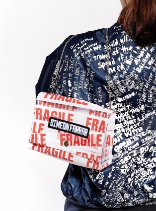 FRAGILE Shoulder Bag by Simeon Farrar