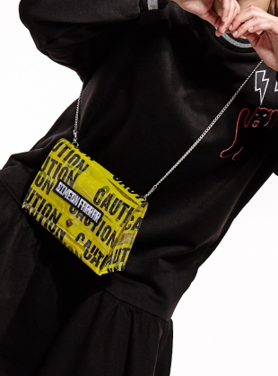Young British Designers: CAUTION Shoulder BAG by Simeon Farrar