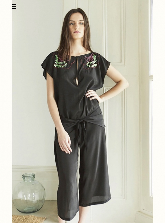 Young British Designers: Nina Jumpsuit in Cactus Tree by Tallulah & Hope