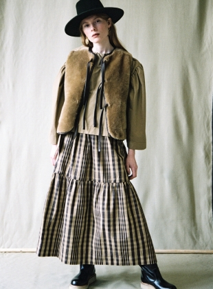 HIGH NOON CHECKED SKIRT by Cawley