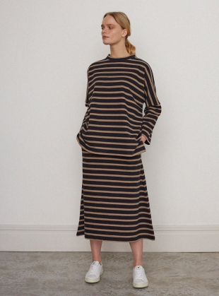 Young British Designers: RONDA ORGANIC COTTON Pull On SKIRT - last one (Xs) by Beaumont Organic