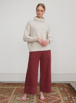 Young British Designers: APHRA  ORGANIC COTTON TROUSERS - Last pair (XS) by Beaumont Organic