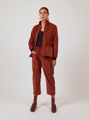 Brick Red LEAH TROUSERS by SIDELINE