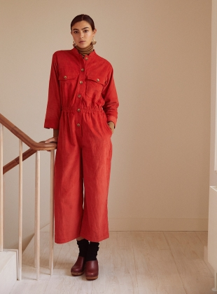 Young British Designers: Red Cord FRANKIE JUMPSUIT by SIDELINE