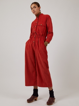 Red Cord FRANKIE JUMPSUIT by SIDELINE