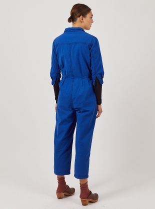 Young British Designers: Cobalt Blue WILLOW BOILERSUIT - Last one (XS) by SIDELINE