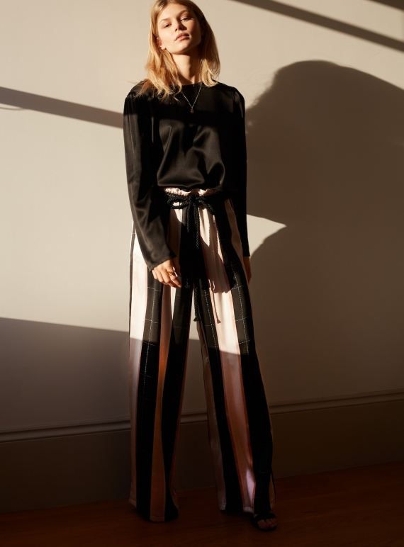 Young British Designers: WILD STORM Striped TROUSERS by Kelly Love