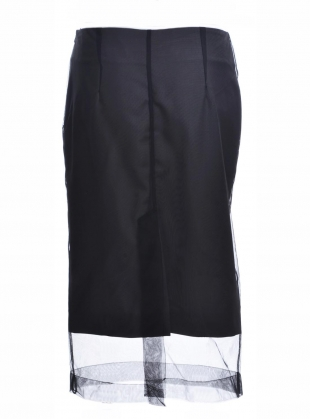 Young British Designers: SATIE PENCIL SKIRT in WOOL/TULLE by Eudon Choi