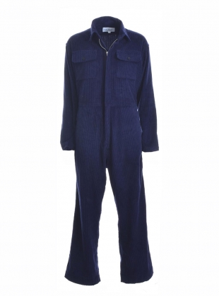 BOILER SUIT in Jumbo Navy Cord by Kate Sheridan