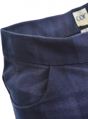 Young British Designers: TALLOWS CROPPED TROUSER. Organic cotton Denim by COR Clothes