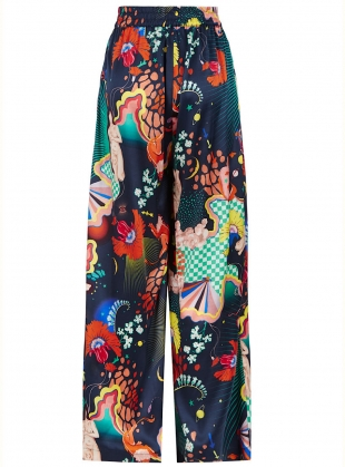 Young British Designers: PLUTO PANTS in Lucid Print - last pair (XS) by Klements