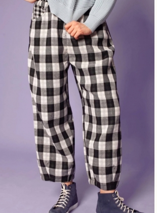 FAT BOYS COTTON. Black Check - Last pair (12) by LF Markey