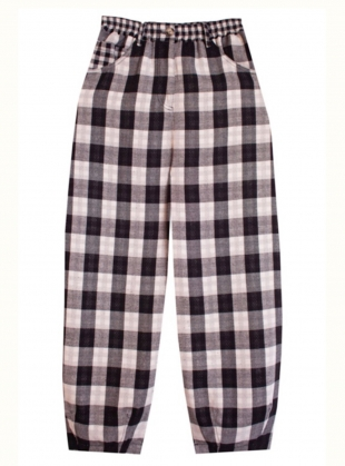 Young British Designers: FAT BOYS COTTON. Black Check - Last pair (12) by LF Markey