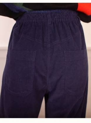 Young British Designers: FAT BOYS CORDUROY. Navy - last pair (6) by LF Markey