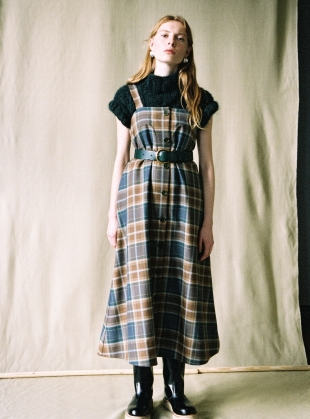 SOL WOOL PINAFORE DRESS - Last one (XXS) by Cawley