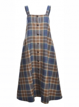 Young British Designers: SOL WOOL PINAFORE DRESS by Cawley