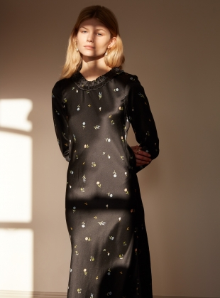 Young British Designers: FLOWERING NIGHT Bias Cut DRESS - Last one (8) by Kelly Love