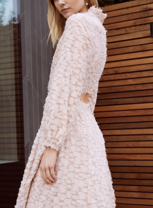 Young British Designers: SWEET BREEZE SOFT PINK DRESS by Kelly Love